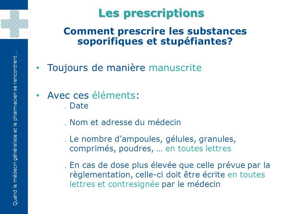 Quand le médecin généraliste et le pharmacien se rencontrent … Dans quel cas un pharmacien peut-il refuser d'exécuter une prescription.