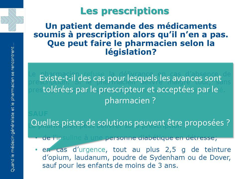 Quand le médecin généraliste et le pharmacien se rencontrent … Quelles sont actuellement les étapes de la demande de remboursement pour les médicaments Chapitre IV.