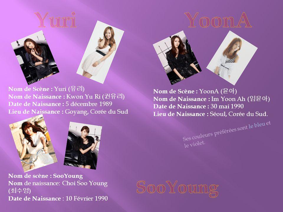 Nom de Scène : YoonA ( 윤아 ) Nom de Naissance : Im Yoon Ah ( 임윤아 ) Date de Naissance : 30 mai 1990 Lieu de Naissance : Séoul, Corée du Sud.
