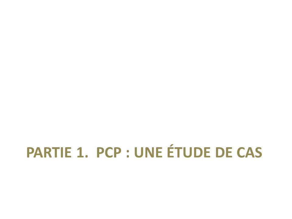 PARTIE 1. PCP : UNE ÉTUDE DE CAS