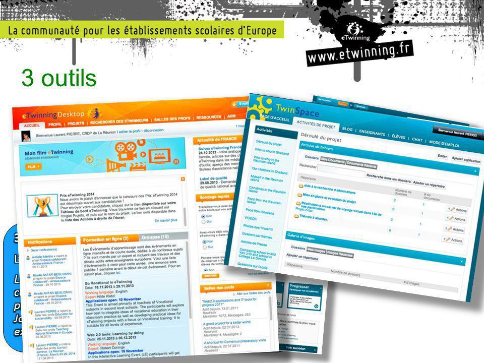3 outils 1.Les portails publics (.fr et.net) Informations, inspiration, inscriptions.