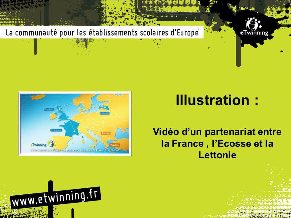 Illustration : Vidéo d'un partenariat entre la France, l'Ecosse et la Lettonie
