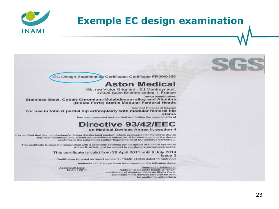 Exemple EC design examination 23