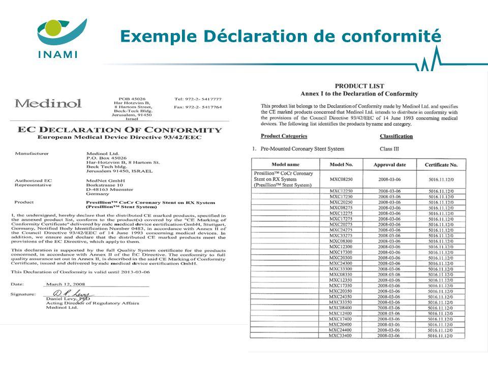 Exemple Déclaration de conformité 24