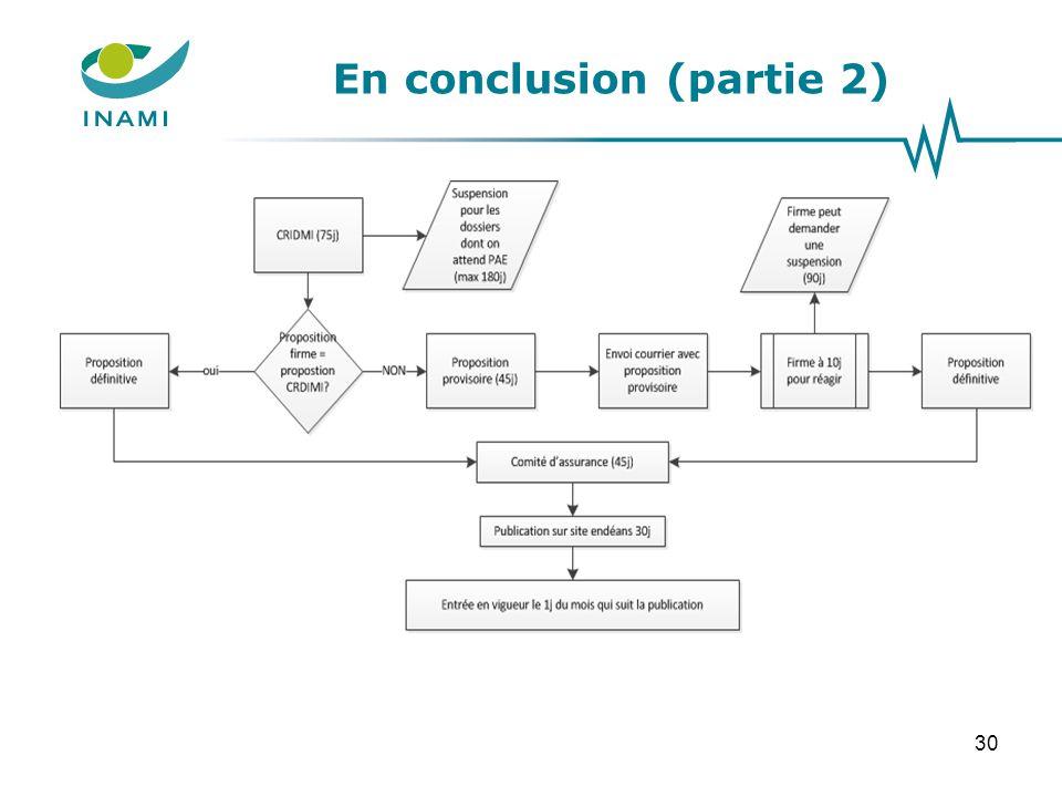 En conclusion (partie 2) 30