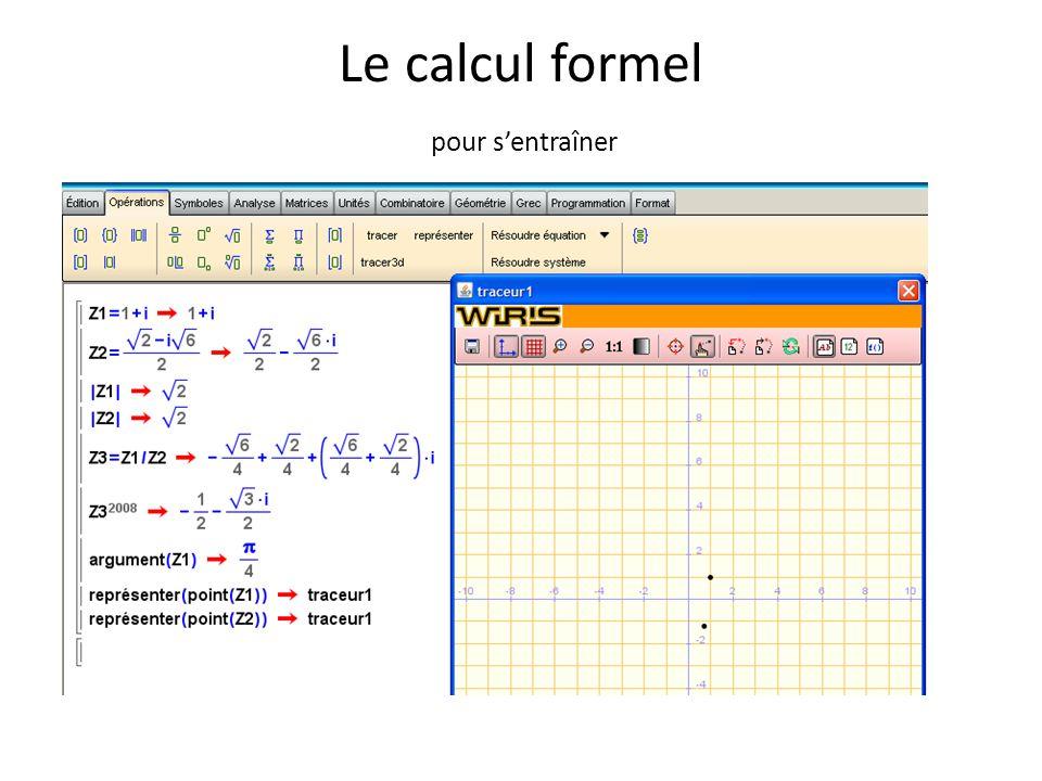 Le calcul formel pour s'entraîner