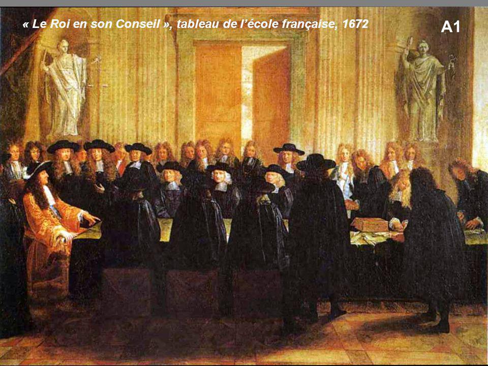 A1 « Le Roi en son Conseil », tableau de l'école française, 1672