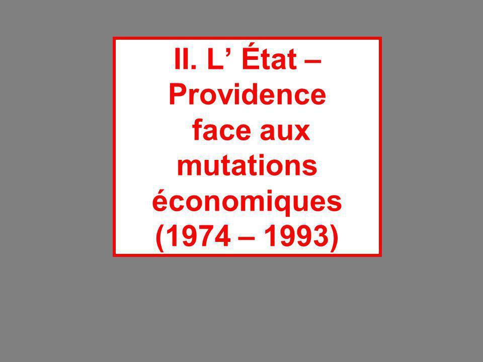 II. L' État – Providence face aux mutations économiques (1974 – 1993)