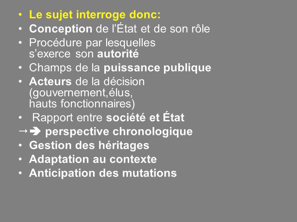 Bilan II Quels sont les effets des mutations économiques mondiales amorcées à partir de 1974 sur les perceptions du rôle de l' État en France