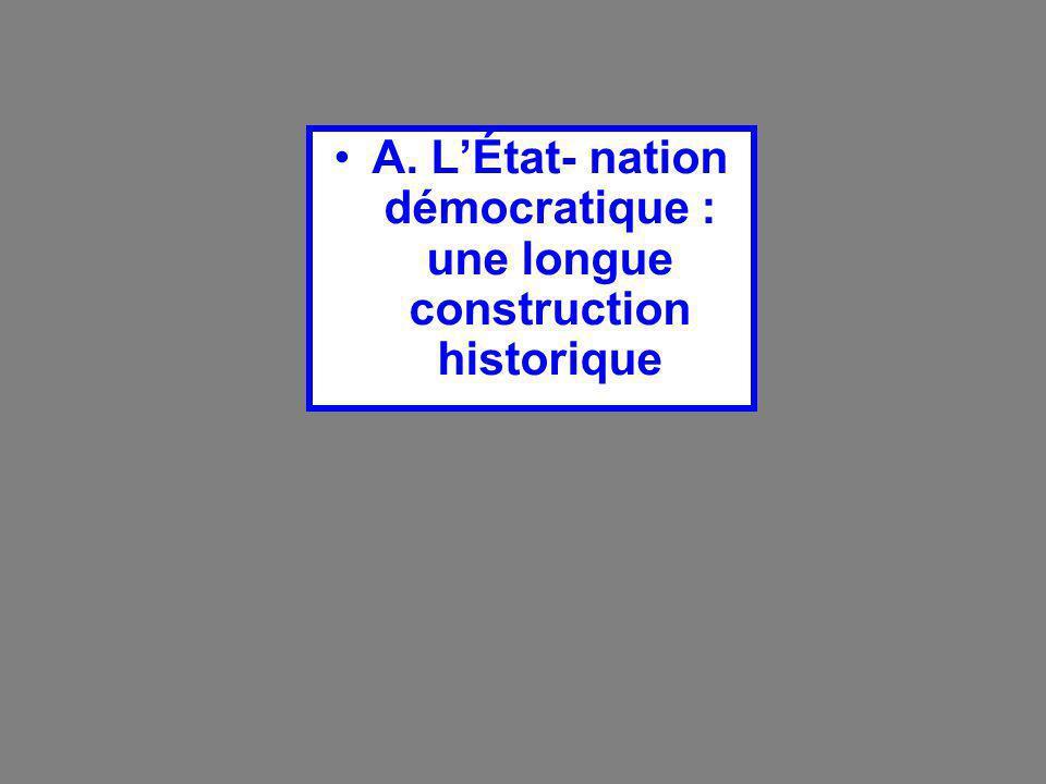 A. L'État- nation démocratique : une longue construction historique
