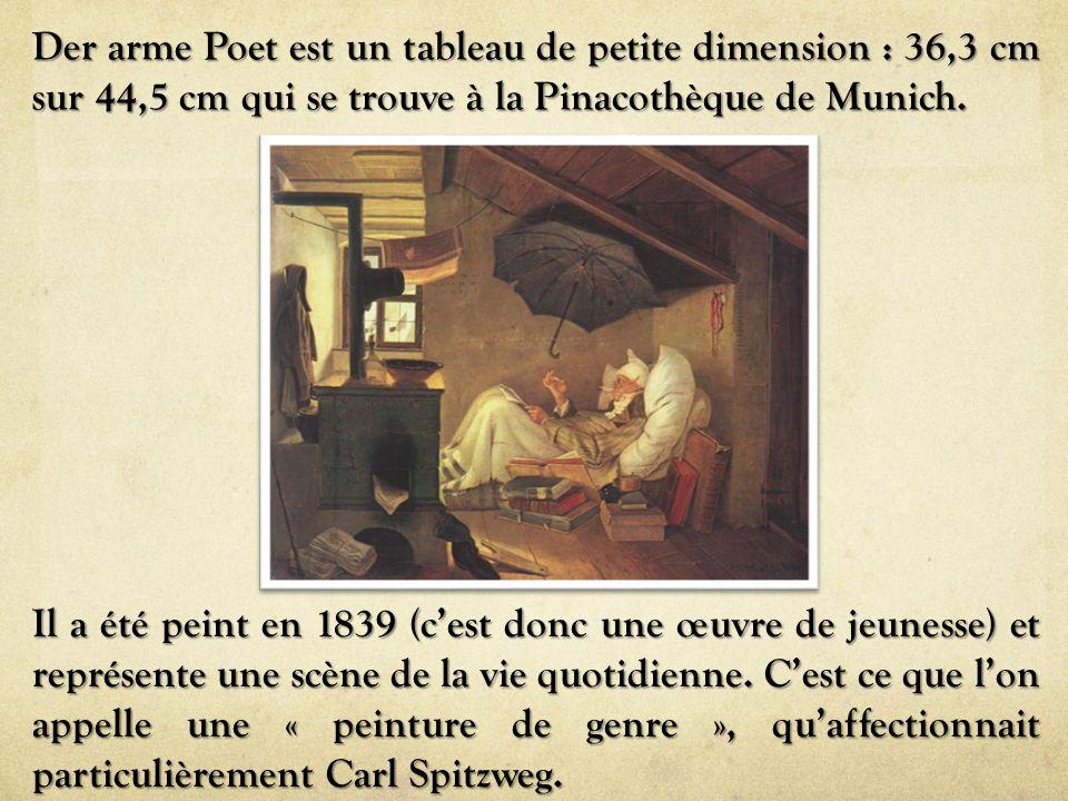 Il a été peint en 1839 (c'est donc une œuvre de jeunesse) et représente une scène de la vie quotidienne. C'est ce que l'on appelle une « peinture de g