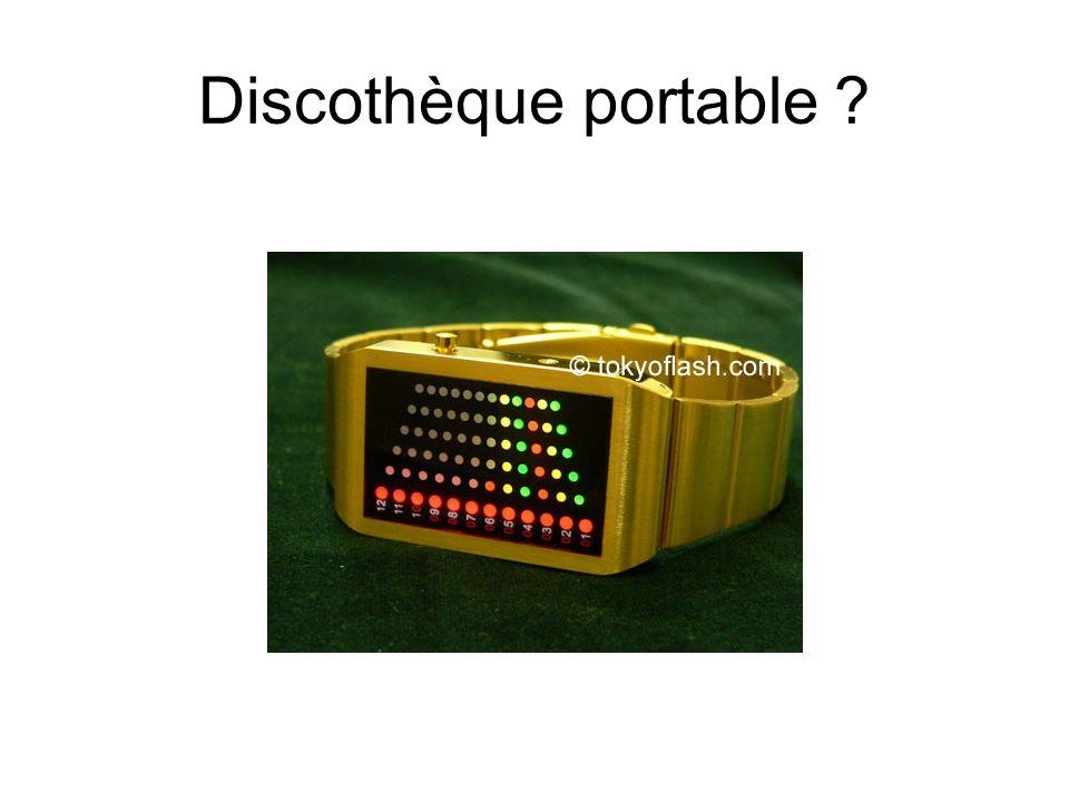 Discothèque portable ?