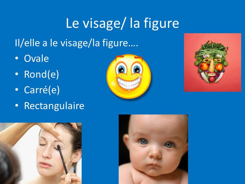 Le visage/ la figure Il/elle a le visage/la figure…. Ovale Rond(e) Carré(e) Rectangulaire