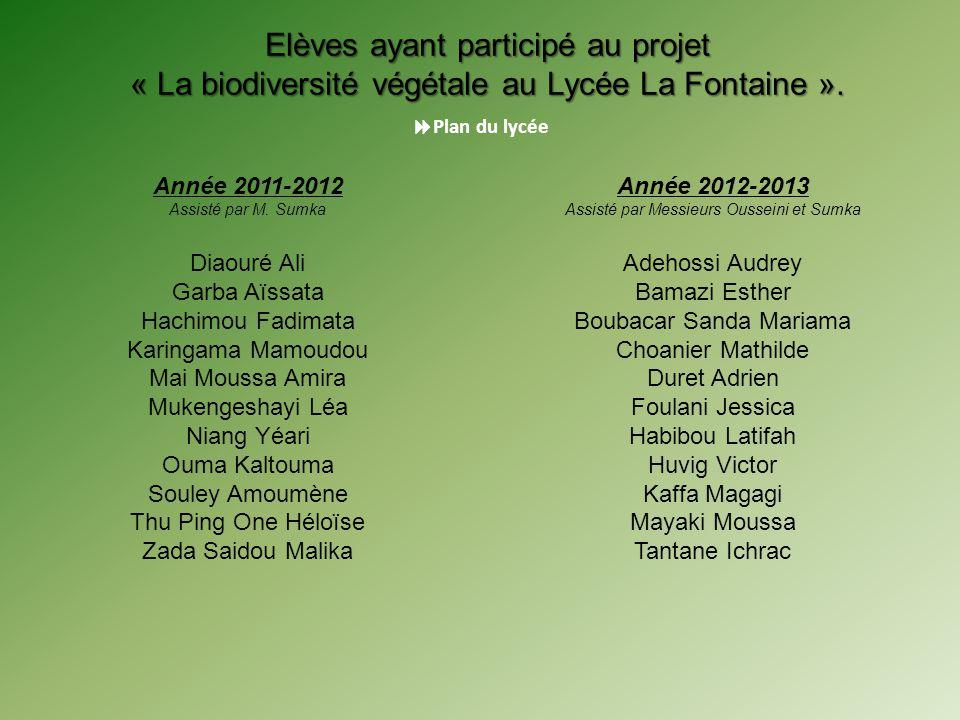 Année 2012-2013 Assisté par Messieurs Ousseini et Sumka Adehossi Audrey Bamazi Esther Boubacar Sanda Mariama Choanier Mathilde Duret Adrien Foulani Je
