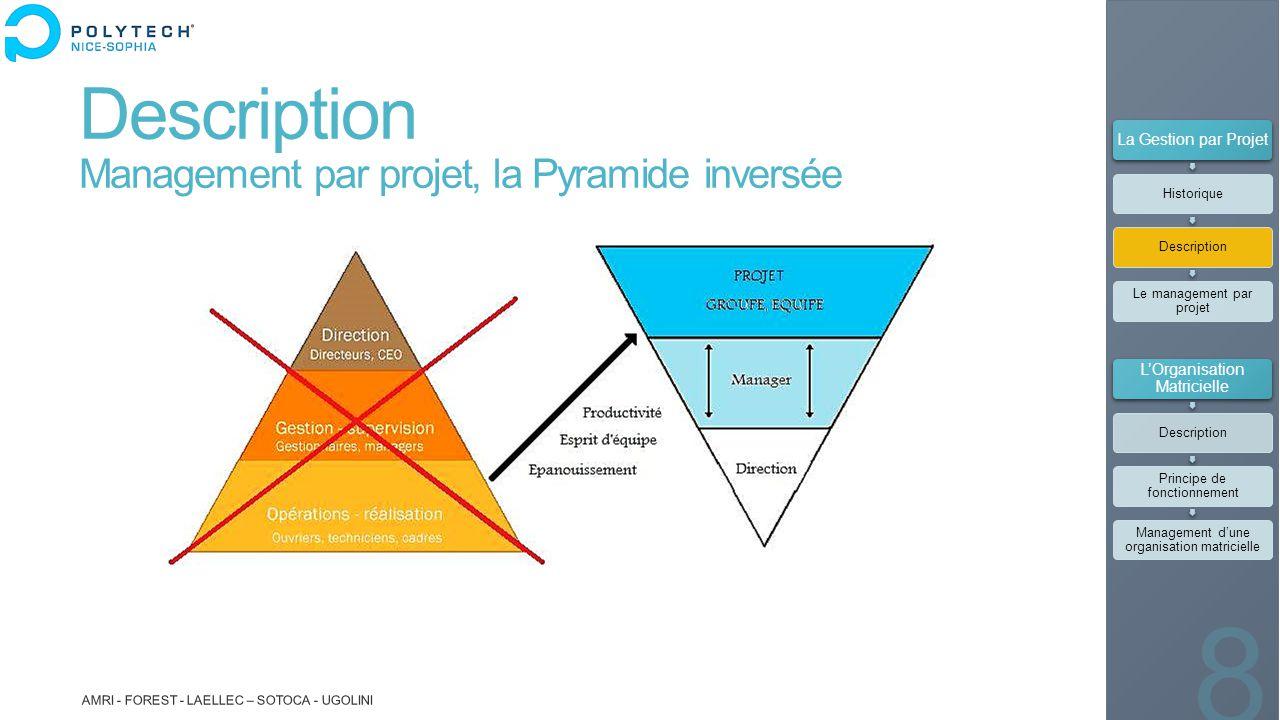 Description Management par projet, la Pyramide inversée AMRI - FOREST - LAELLEC – SOTOCA - UGOLINI 8