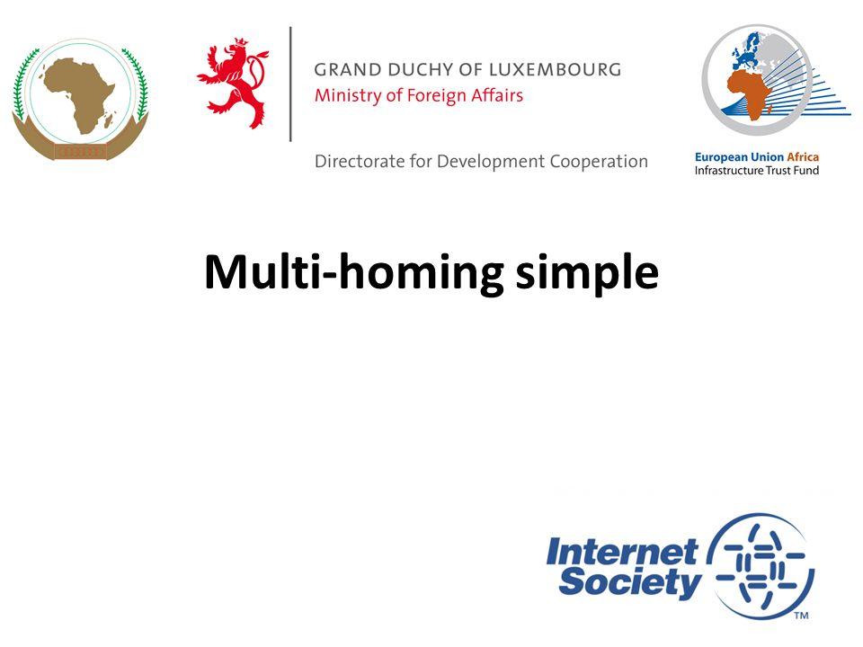 Multi-homing simple 1