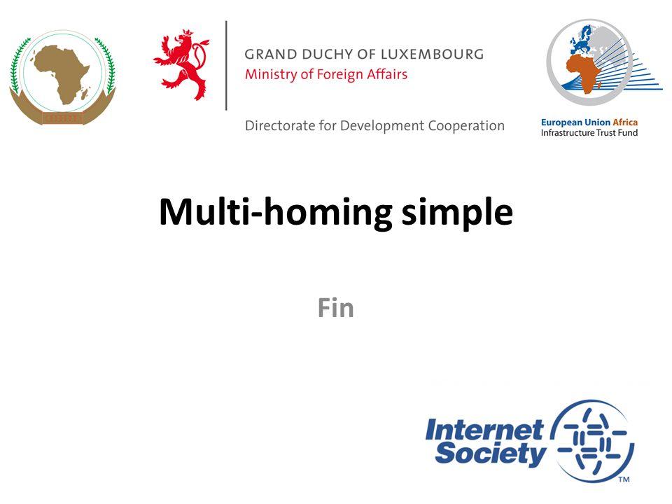 Multi-homing simple Fin 104