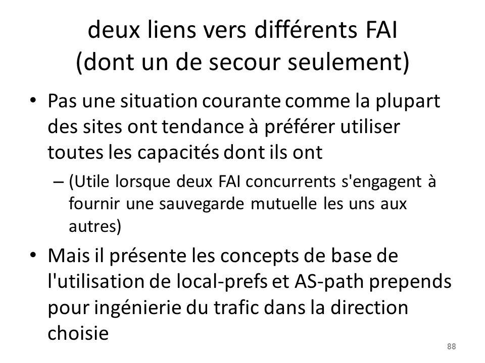 deux liens vers différents FAI (dont un de secour seulement) Pas une situation courante comme la plupart des sites ont tendance à préférer utiliser to