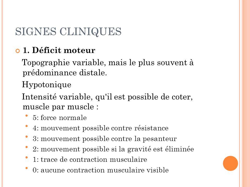 4.Rétractions tendineuses 5.