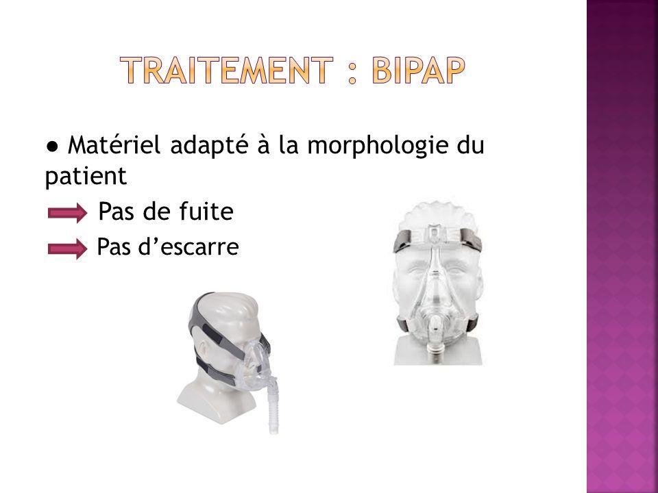 ● Matériel adapté à la morphologie du patient Pas de fuite Pas d'escarre