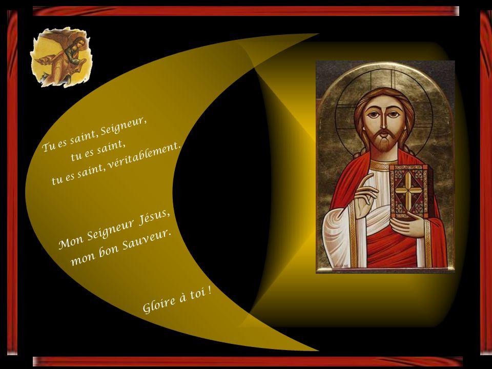 Il a donné la joie à nos âmes, le souvenir de ton saint Nom, Mon Seigneur Jésus, mon bon Sauveur. Car toi seul tu es digne que nous te bénissions, G l