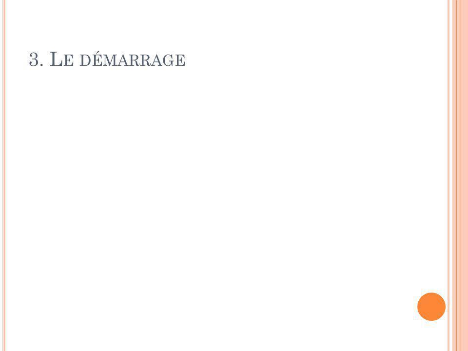 3. L E DÉMARRAGE