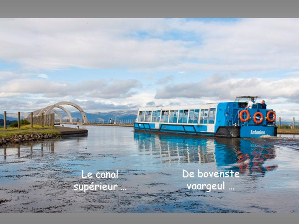 L'accès au canal inférieur se fait par une écluse De toegang tot de onderste vaargeul via een sluis