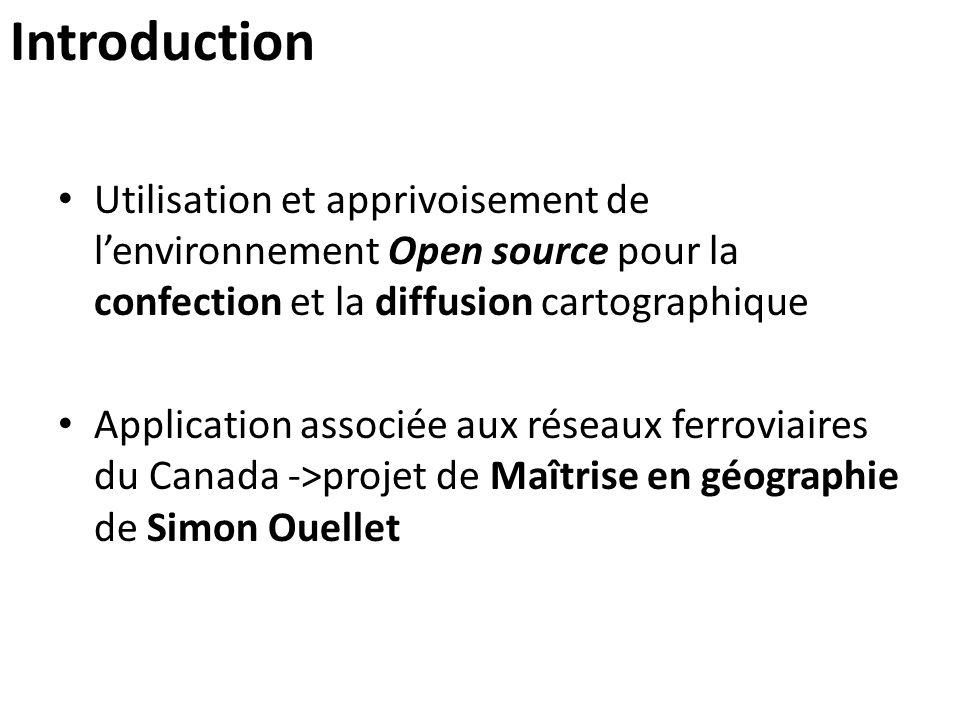 Introduction Utilisation et apprivoisement de l'environnement Open source pour la confection et la diffusion cartographique Application associée aux r