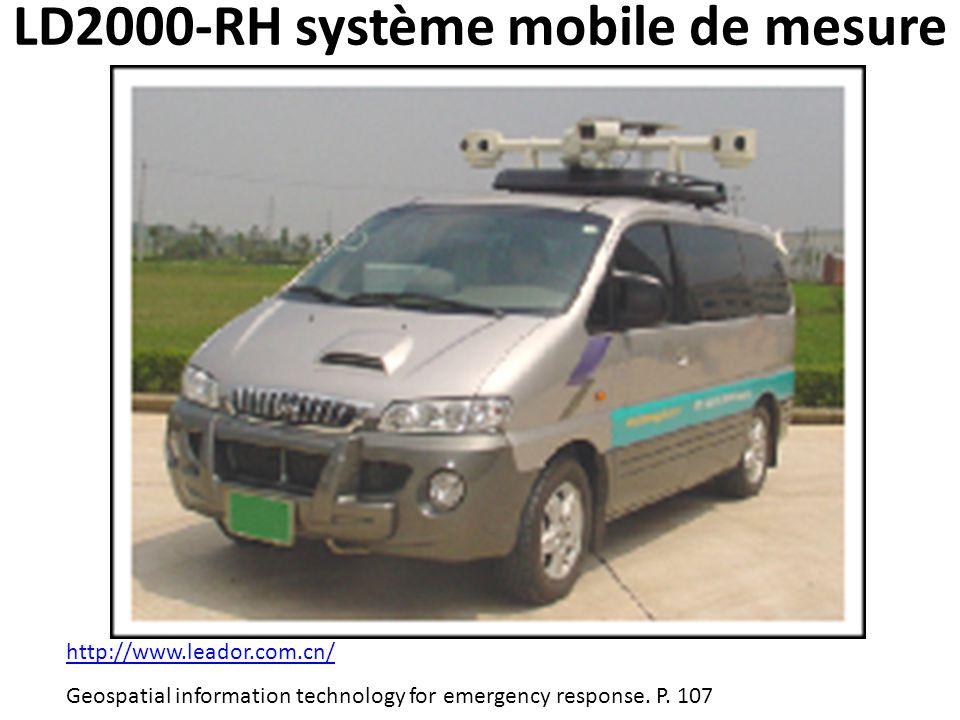 LD2000-RH système mobile de mesure http://www.leador.com.cn/ Geospatial information technology for emergency response. P. 107