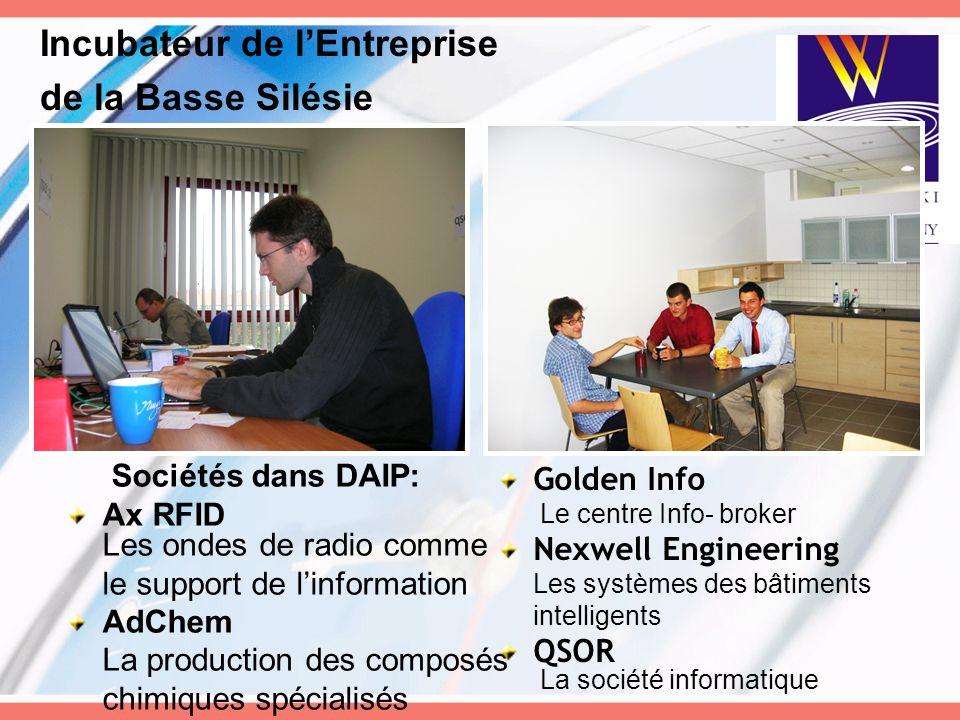 Incubateur de l'Entreprise de la Basse Silésie Sociétés dans DAIP: Ax RFID Les ondes de radio comme le support de l'information AdChem La production d