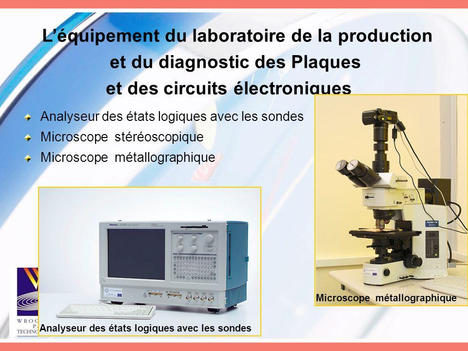 L'équipement du laboratoire de la production et du diagnostic des Plaques et des circuits électroniques Analyseur des états logiques avec les sondes M