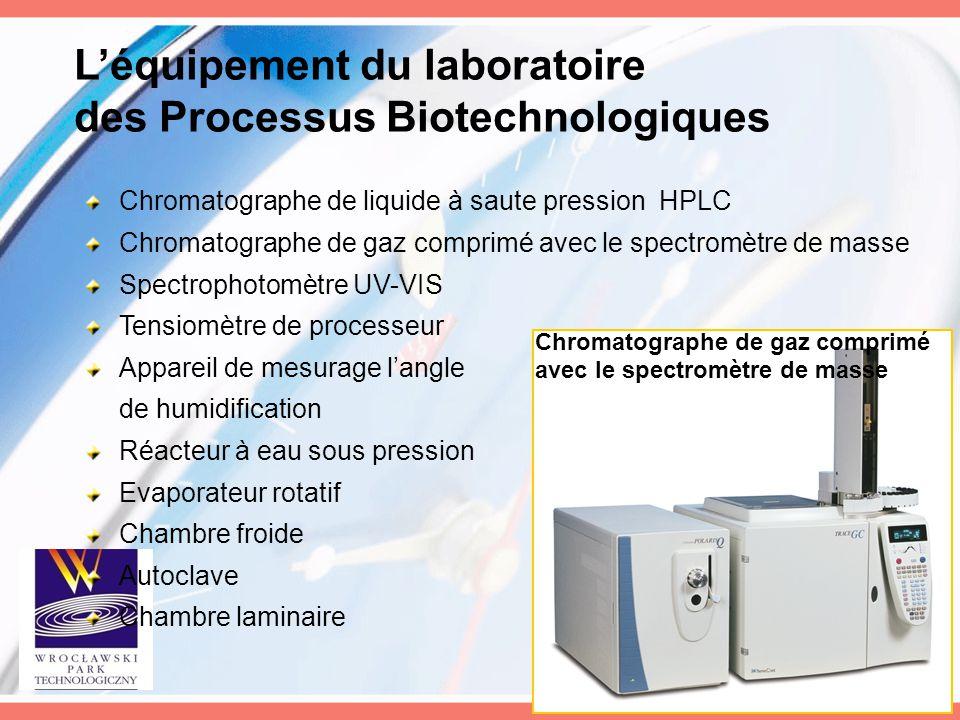 L'équipement du laboratoire des Processus Biotechnologiques Chromatographe de liquide à saute pression HPLC Chromatographe de gaz comprimé avec le spe