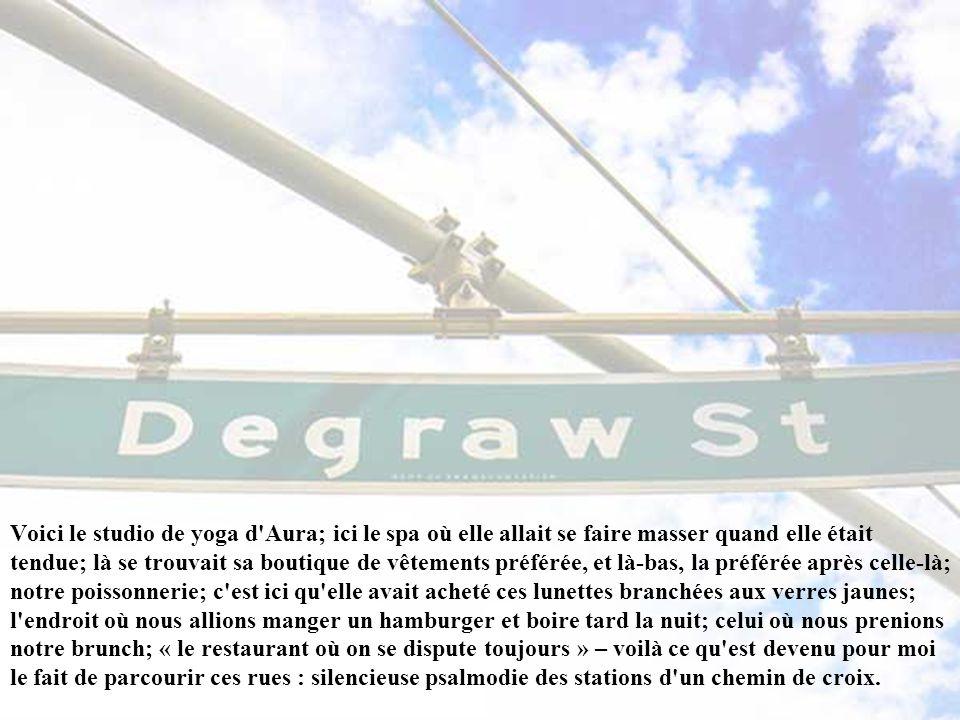 Degraw Street, où nous habitions, est censée marquer la frontière entre Carroll Gardens et Cobble Hill... A quelques rues de là, juste en face de la s