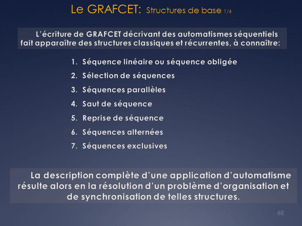 Le GRAFCET: Structures de base 1/4 68