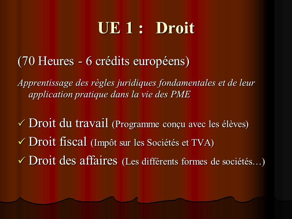 UE 2 : Economie (50 heures - 4 crédits européens) Compréhension du vocabulaire et de la problématique de l environnement économique  Enjeux économiques (exposés réalisés par les élèves) Economie européenne Economie européenne
