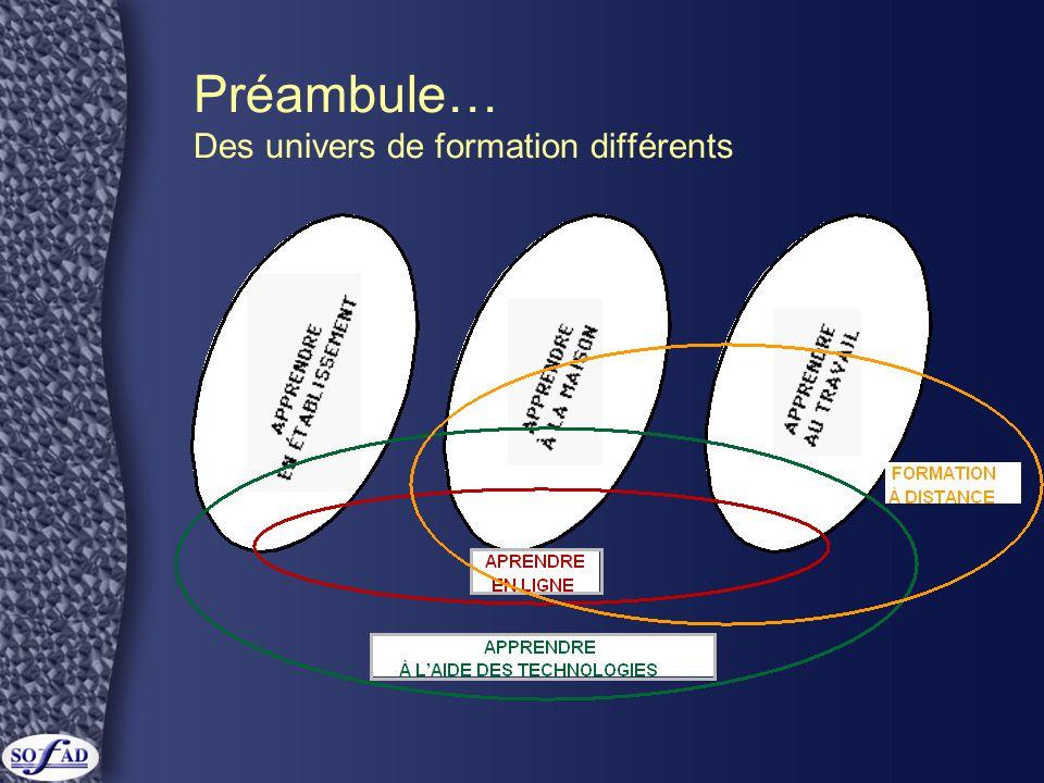 Préambule… Des univers de formation différents