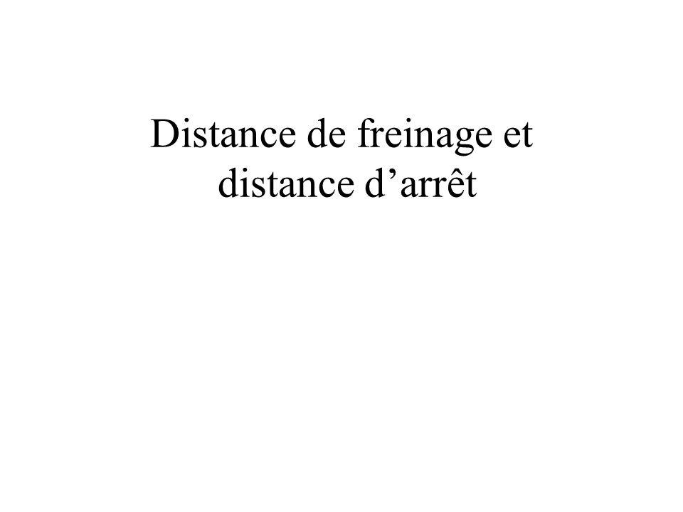 Distance de freinage et distance d'arrêt