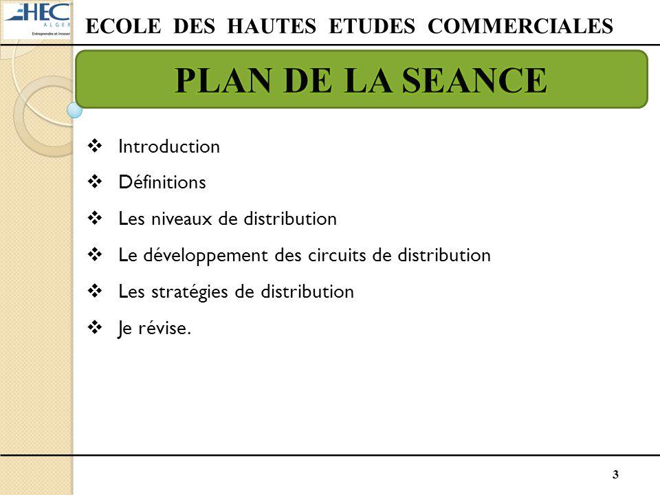 3  Introduction  Définitions  Les niveaux de distribution  Le développement des circuits de distribution  Les stratégies de distribution  Je rév