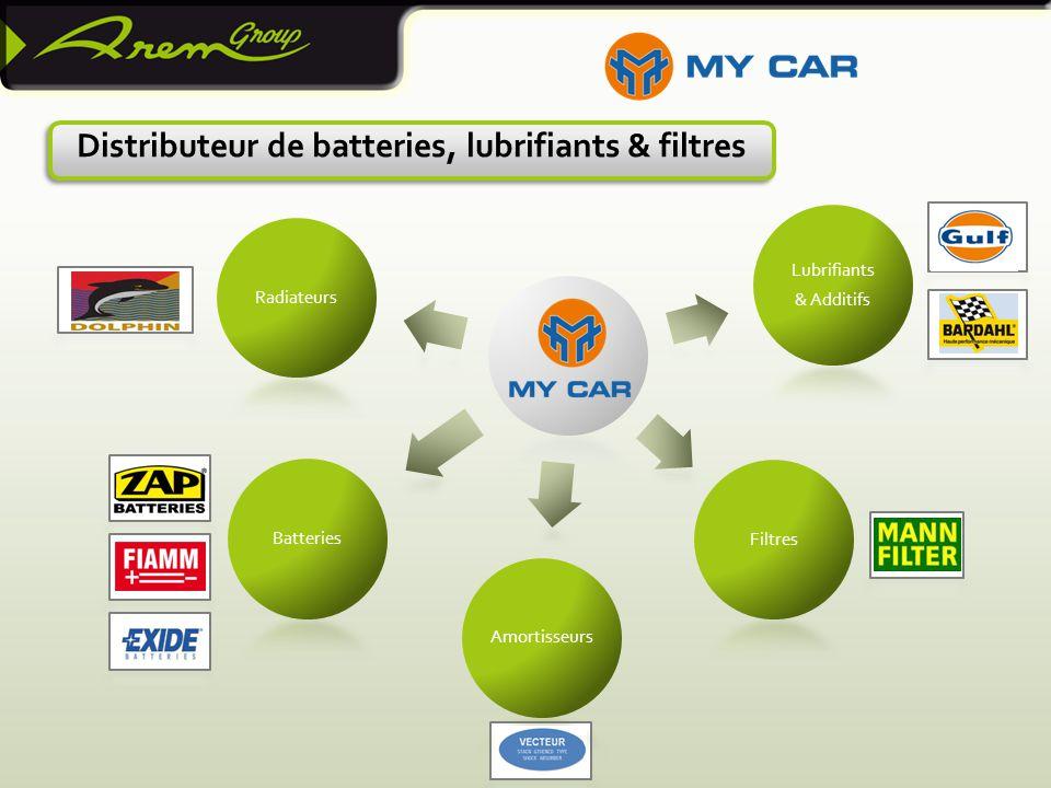 Distributeur de batteries, lubrifiants & filtres Lubrifiants & Additifs FiltresAmortisseursBatteriesRadiateurs