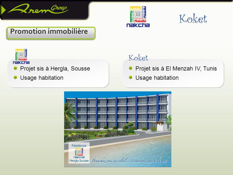 Projet sis à Hergla, Sousse Usage habitation Projet sis à El Menzah IV, Tunis Usage habitation Koket