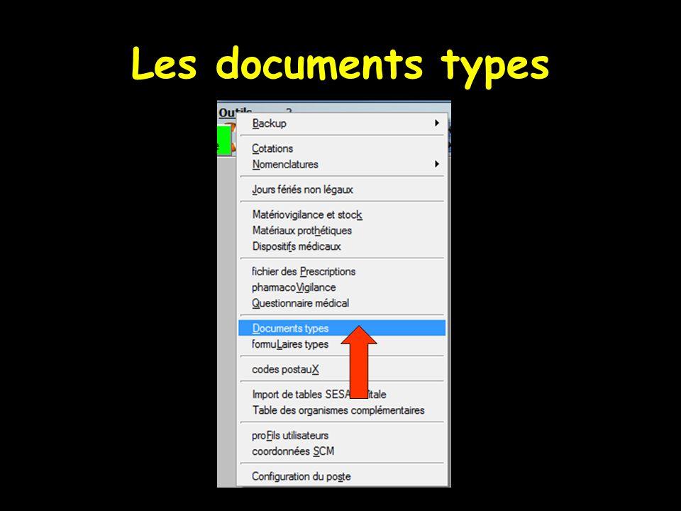 Les documents types