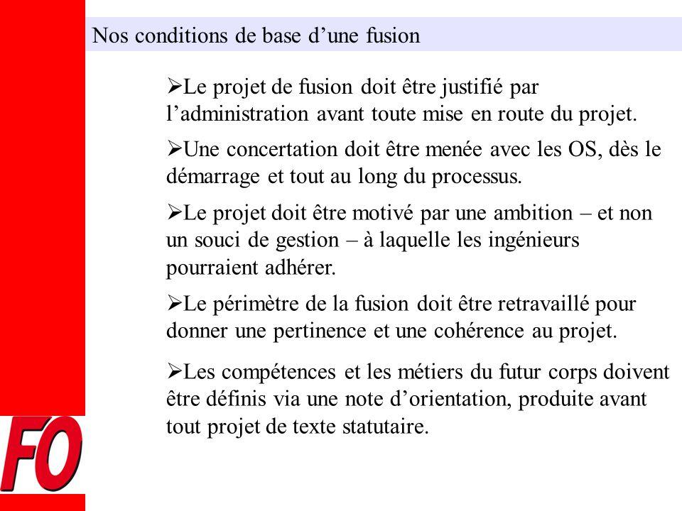Nos conditions de base d'une fusion  Le projet de fusion doit être justifié par l'administration avant toute mise en route du projet.
