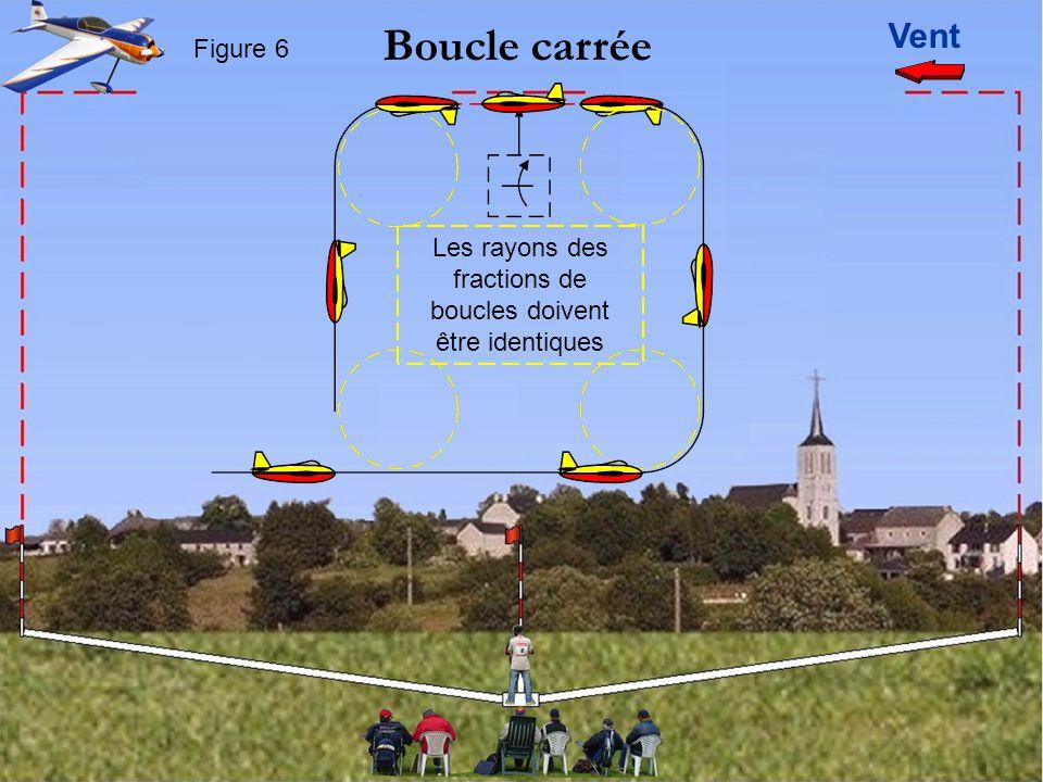 Vent Boucle carrée Figure 6 Les rayons des fractions de boucles doivent être identiques