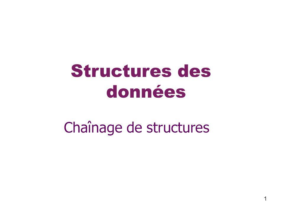 1 Structures des données