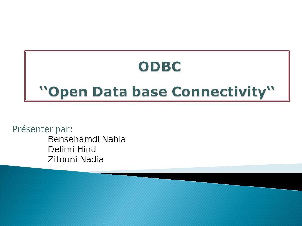 12 C est un programme utilitaire qui permet de gérer les sources de données ODBC (Création, Modification, Suppression) de l ordinateur..