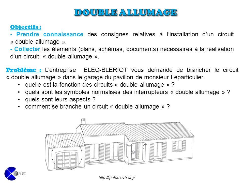 Objectifs : - Prendre connaissance des consignes relatives à l'installation d'un circuit « double allumage ». - Collecter les éléments (plans, schémas