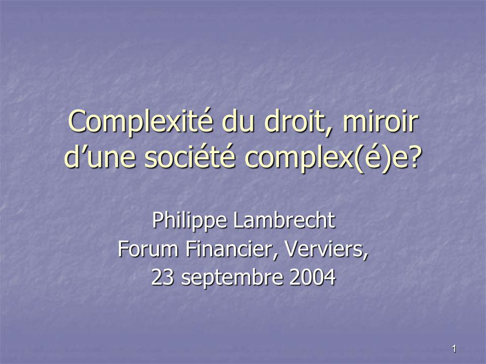 23 septembre 2003Forum Financier2