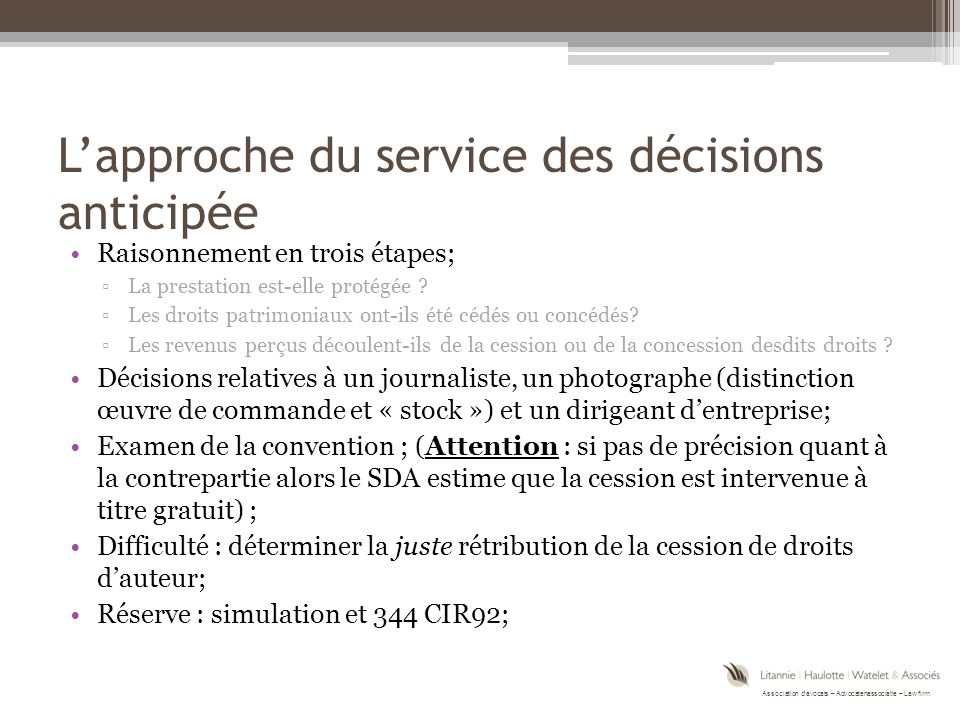 Association d'avocats – Advocatenassociatie – Law firm Questions time