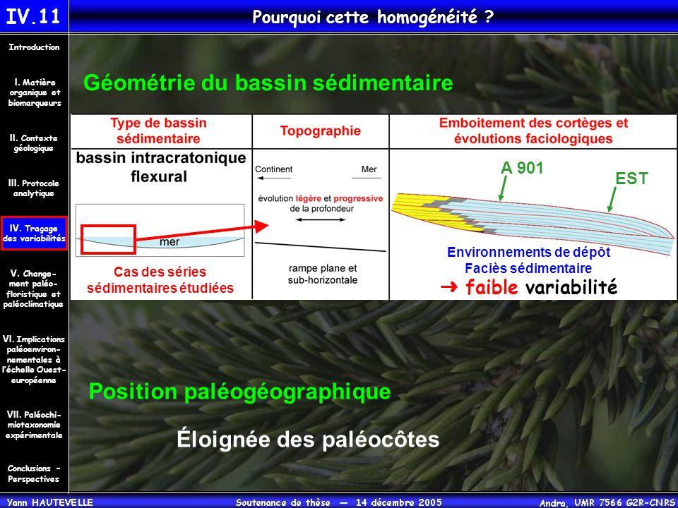 IV.11 Pourquoi cette homogénéité ? Conclusions – Perspectives II. Contexte géologique Introduction III. Protocole analytique IV. Traçage des variabili