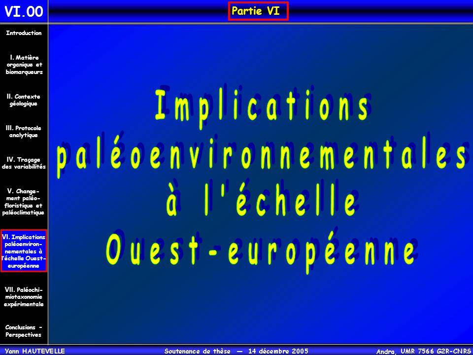 Partie VI VI.00 Conclusions – Perspectives II. Contexte géologique Introduction III. Protocole analytique IV. Traçage des variabilités V. Change- ment